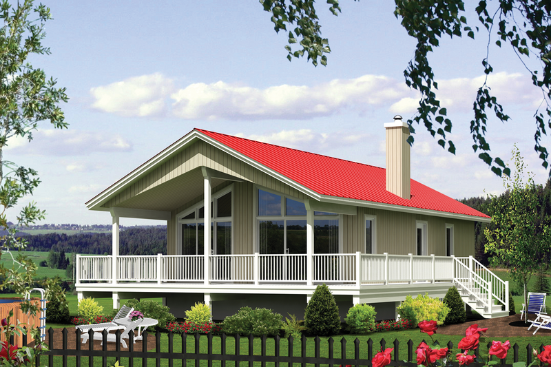 Ranch Style House Plan - 2 Beds 1 Baths 924 Sq/Ft Plan #25-4359 Exterior - Front Elevation