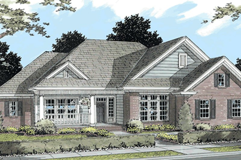 Home Plan - Country Exterior - Front Elevation Plan #513-2042