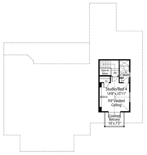 Cottage Floor Plan - Upper Floor Plan Plan #938-87