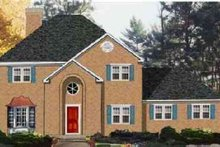 Colonial Exterior - Front Elevation Plan #3-203