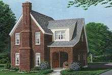 Home Plan Design - European Exterior - Front Elevation Plan #410-327