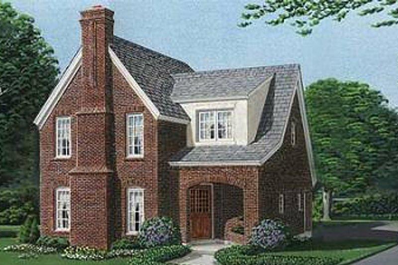 Dream House Plan - European Exterior - Front Elevation Plan #410-327