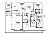 European Style House Plan - 4 Beds 4 Baths 3015 Sq/Ft Plan #20-2361 Floor Plan - Main Floor Plan