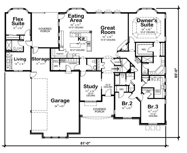 European Floor Plan - Main Floor Plan Plan #20-2361