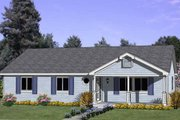 Ranch Style House Plan - 4 Beds 2 Baths 1422 Sq/Ft Plan #116-237 Exterior - Front Elevation