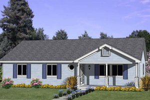 Ranch Exterior - Front Elevation Plan #116-237