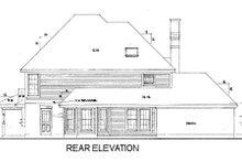 Victorian Exterior - Rear Elevation Plan #410-200