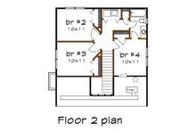 Bungalow Floor Plan - Upper Floor Plan Plan #79-204