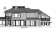 Southern Style House Plan - 5 Beds 4 Baths 5209 Sq/Ft Plan #27-305 Exterior - Rear Elevation
