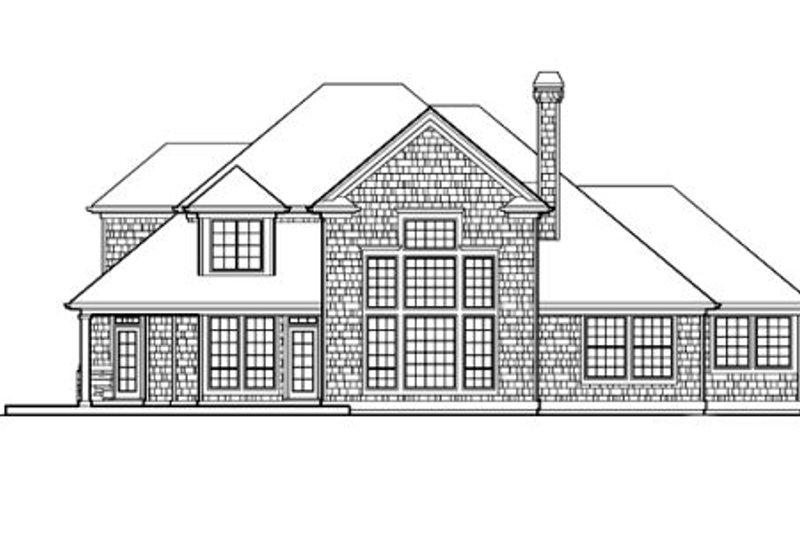 Craftsman Exterior - Rear Elevation Plan #48-116 - Houseplans.com
