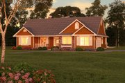 Ranch Style House Plan - 3 Beds 2 Baths 1511 Sq/Ft Plan #18-1057 Exterior - Front Elevation
