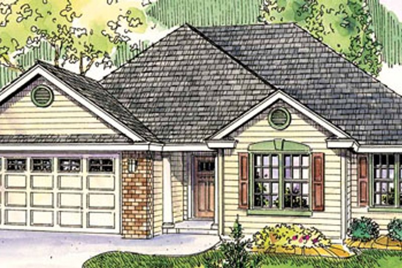 Traditional Style House Plan - 2 Beds 2 Baths 2063 Sq/Ft Plan #124-764 Exterior - Front Elevation