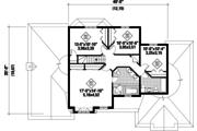 European Style House Plan - 4 Beds 2 Baths 2659 Sq/Ft Plan #25-4669 Floor Plan - Upper Floor Plan