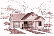 Farmhouse Style House Plan - 4 Beds 2 Baths 1117 Sq/Ft Plan #79-150 Exterior - Front Elevation