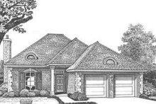 European Exterior - Front Elevation Plan #310-404