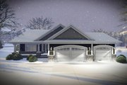 Ranch Style House Plan - 2 Beds 2 Baths 1736 Sq/Ft Plan #70-1484 Exterior - Front Elevation