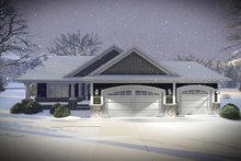 House Plan Design - Ranch Exterior - Front Elevation Plan #70-1484