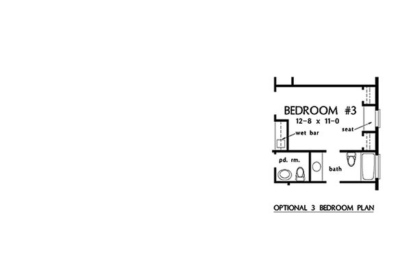 Architectural House Design - Optional Bedroom III