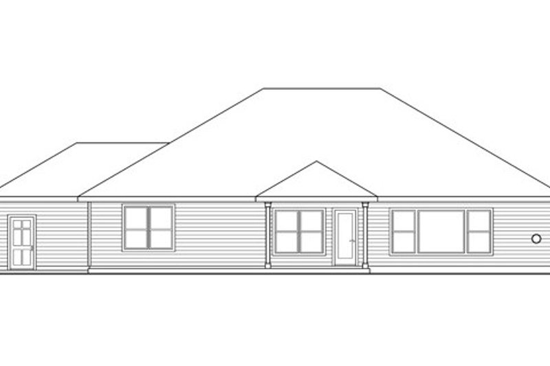 Ranch Exterior - Rear Elevation Plan #124-833 - Houseplans.com