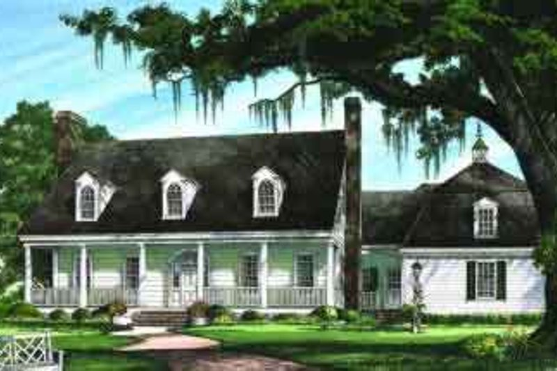 Southern Exterior - Front Elevation Plan #137-240 - Houseplans.com