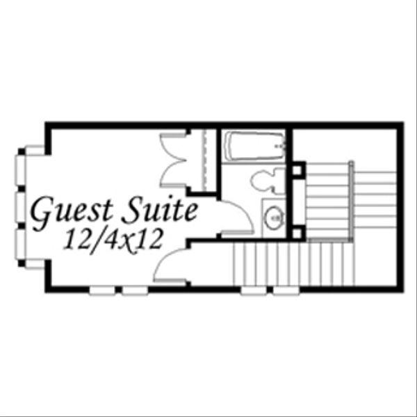 Modern Floor Plan - Upper Floor Plan Plan #509-1