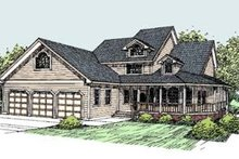 House Design - Traditional Exterior - Front Elevation Plan #60-285