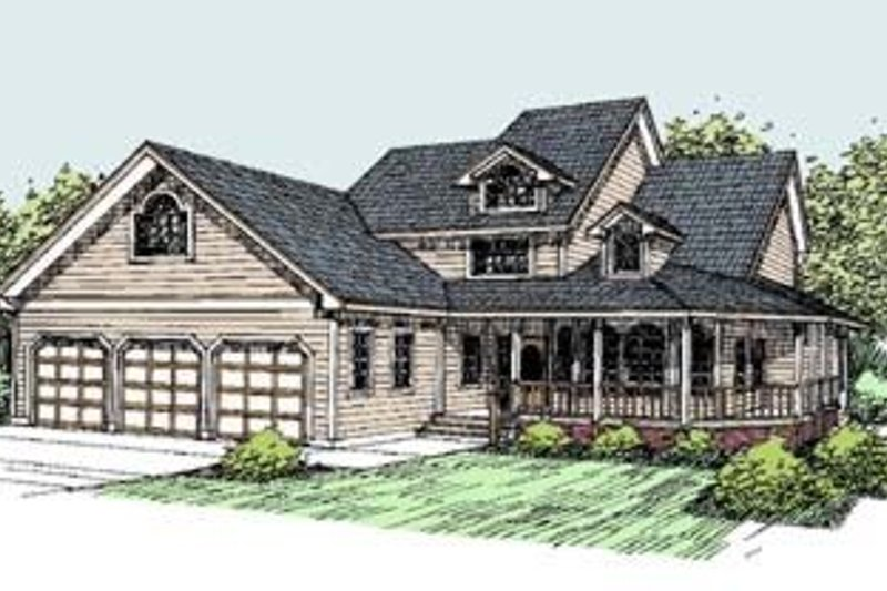 Traditional Exterior - Front Elevation Plan #60-285 - Houseplans.com