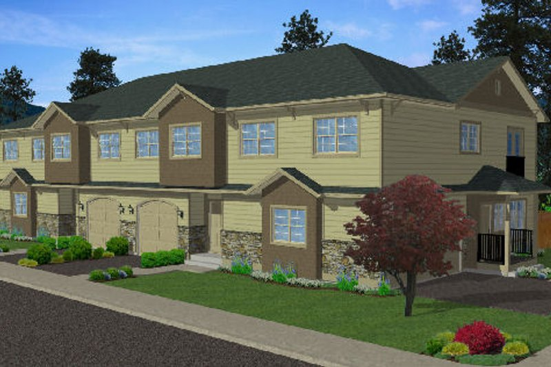 Dream House Plan - Traditional Exterior - Front Elevation Plan #126-165