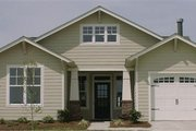 Craftsman Style House Plan - 3 Beds 2 Baths 1561 Sq/Ft Plan #63-152 Exterior - Front Elevation