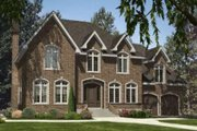 European Style House Plan - 4 Beds 2.5 Baths 2818 Sq/Ft Plan #138-134 Exterior - Front Elevation