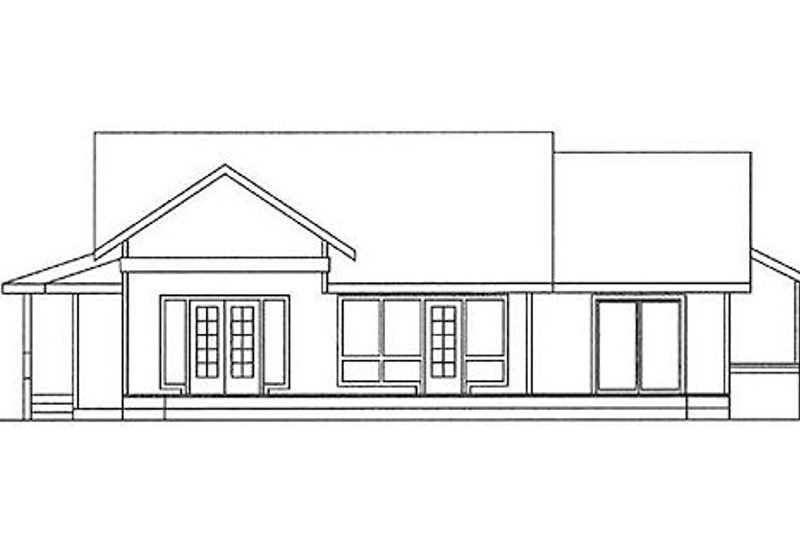 Country Exterior - Rear Elevation Plan #60-148 - Houseplans.com