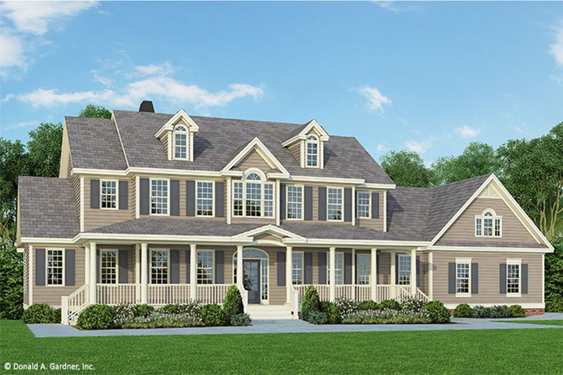 Country Style House Plan - 4 Beds 3.5 Baths 3419 Sq/Ft Plan #929-44 Exterior - Front Elevation
