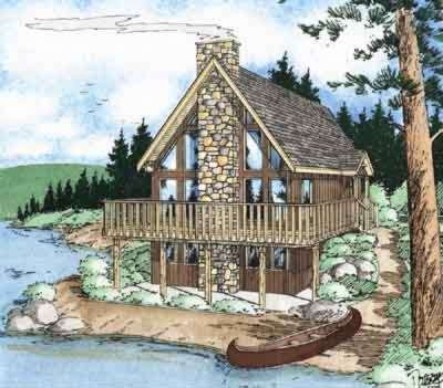 Cottage Exterior - Front Elevation Plan #126-109