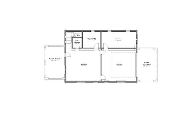 Craftsman Floor Plan - Lower Floor Plan #926-5