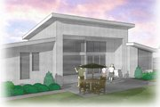 Modern Style House Plan - 2 Beds 2 Baths 1508 Sq/Ft Plan #48-460 Exterior - Rear Elevation