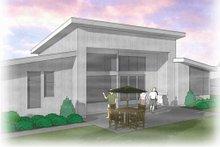 Dream House Plan - Modern Exterior - Rear Elevation Plan #48-460
