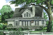 Farmhouse Exterior - Rear Elevation Plan #929-77