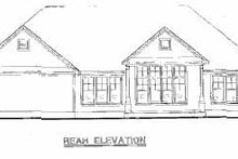 Home Plan - Traditional Exterior - Rear Elevation Plan #20-165