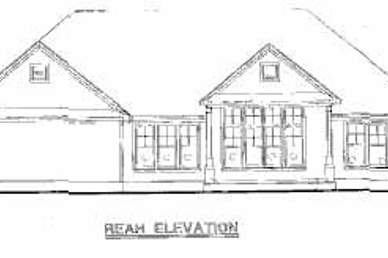 Traditional Exterior - Rear Elevation Plan #20-165 - Houseplans.com