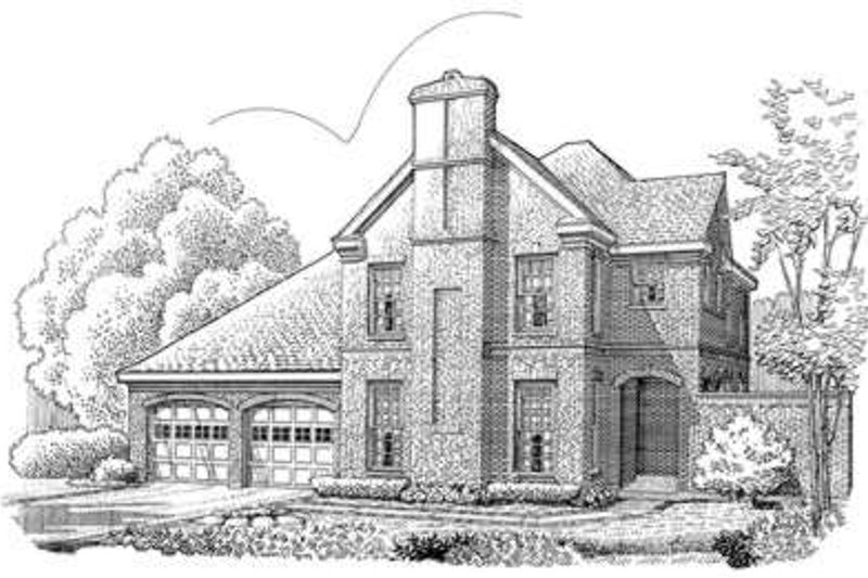 European Exterior - Front Elevation Plan #410-369