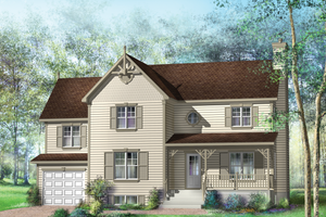 Country Exterior - Front Elevation Plan #25-4682