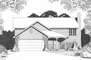 Traditional Style House Plan - 2 Beds 2 Baths 1000 Sq/Ft Plan #58-101 Exterior - Front Elevation