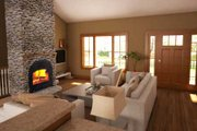 Country Style House Plan - 3 Beds 2 Baths 1412 Sq/Ft Plan #18-1036 Interior - Other