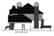 European Style House Plan - 4 Beds 2.5 Baths 2459 Sq/Ft Plan #138-247 Exterior - Other Elevation