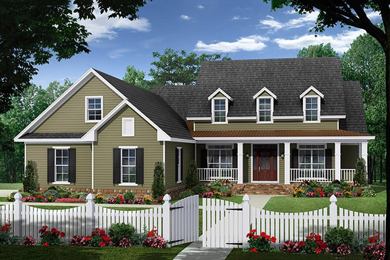 Country Exterior - Front Elevation Plan #21-385