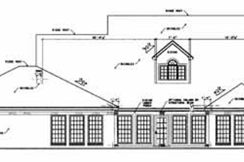 Farmhouse Exterior - Rear Elevation Plan #36-245 - Houseplans.com