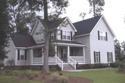 Country Style House Plan - 3 Beds 2.5 Baths 1867 Sq/Ft Plan #20-162 Exterior - Front Elevation