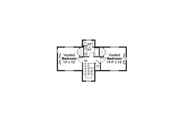 Home Plan - Country Floor Plan - Upper Floor Plan #124-1185