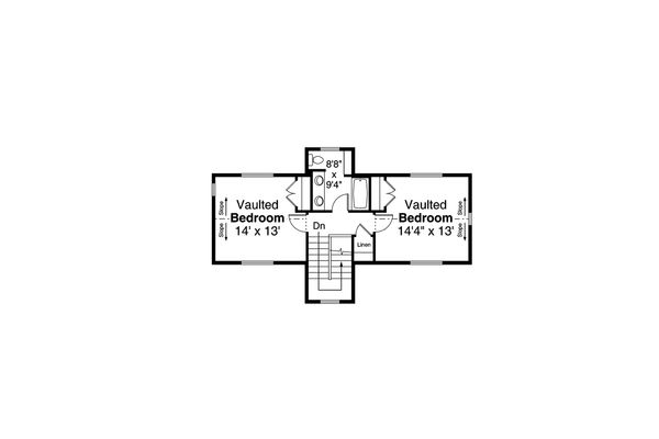 Country Floor Plan - Upper Floor Plan Plan #124-1185