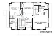 Craftsman Style House Plan - 4 Beds 3.5 Baths 2760 Sq/Ft Plan #434-5 Floor Plan - Upper Floor Plan